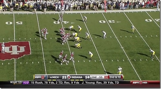 I think this would be Michigan, playing Cover 2.